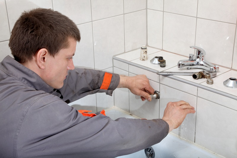 a Battery Operated Touchless Hand Sink Faucet