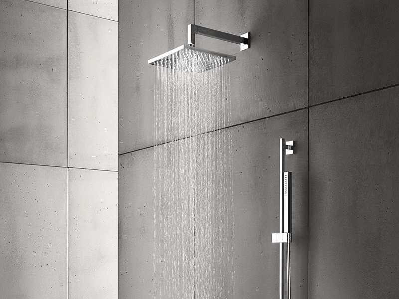 Bathtub and Shower Faucets With Rain Showers And Bars